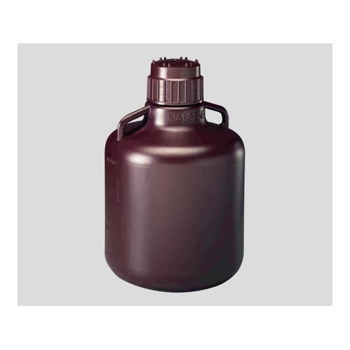 アズワン 広口試薬ボトル 褐色 10L 1袋(1本入) 1箱 [1-2687-07]