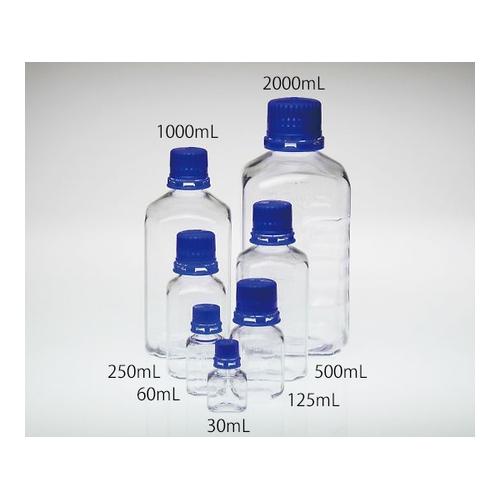 アズワン PETG滅菌培地瓶 1000mL 12本入 1パック(12本入り) [3-8986-06]