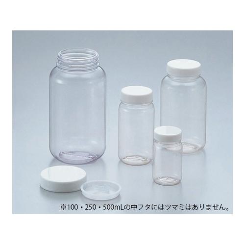アズワン クリヤ広口瓶(透明エンビ製) 1L ケース販売52本入 1箱(52本入り) [5-031-54]