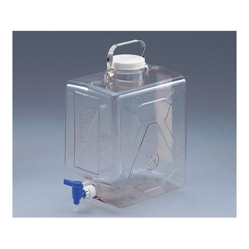 アズワン ナルゲン透明活栓付角型瓶2322 9L 1本 [5-058-01]