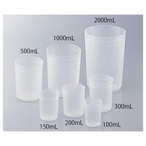 アズワン ディスポカップ(ブロー成形) 100mL 1000個入 1箱(1000個入り) [1-4659-11]