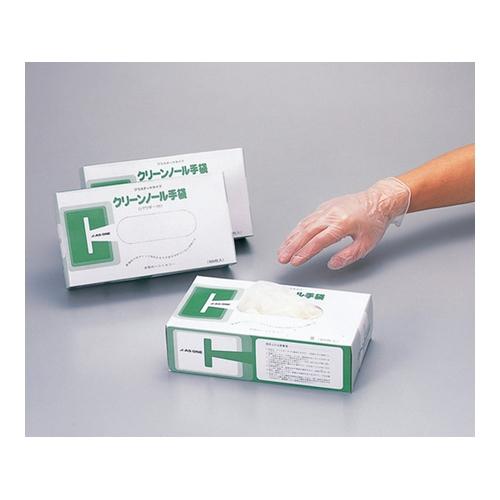 アズワン クリーンノール手袋 PVC パウダー付 L 10箱(1000枚入) 1箱(100枚×10箱入り) [6-903-11]