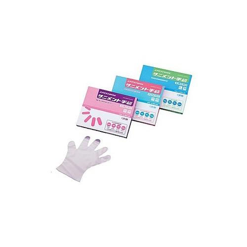 アズワン ラボラン(R)サニメント手袋(PE・厚手タイプ) エンボス付 S 10箱+1箱 1箱(100枚×11箱入り) [9-889-03]