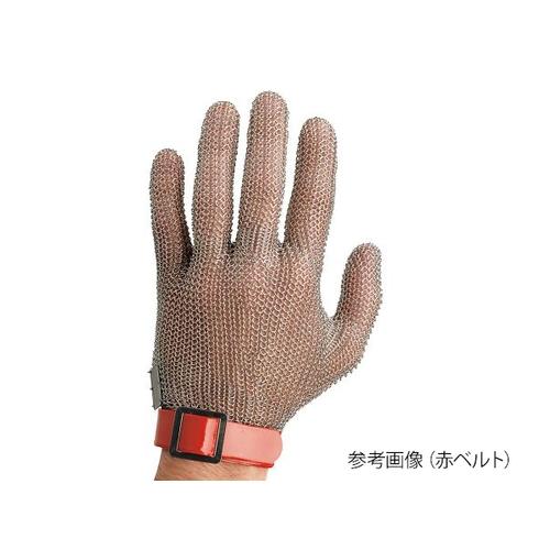 アズワン ステンレスメッシュ手袋(左右兼用) 青ベルト 1枚 [3-9851-04]