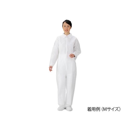 アズワン ディスポ保護衣(つなぎ服) L 50枚入 1箱(50枚入り) [8-4054-12]