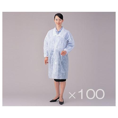 アズワン ディスポ白衣 M 100枚セット 1箱(100枚入り) [8-4055-11]
