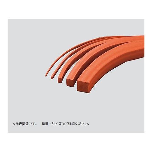 アズワン シリコーンスポンジ紐(赤)角 30mm×40mm 1本 [3-3218-84]
