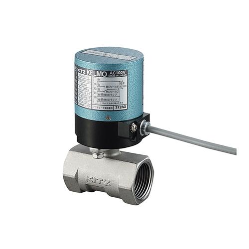 アズワン 小型電動ボールバルブ(ステンレス) AC100V 20A 3/4 1個 [3-8536-04]