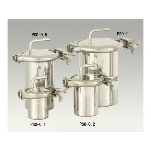 アズワン へルール式(316L)ストレートボトル 0.1L 1個 [1-2775-01]