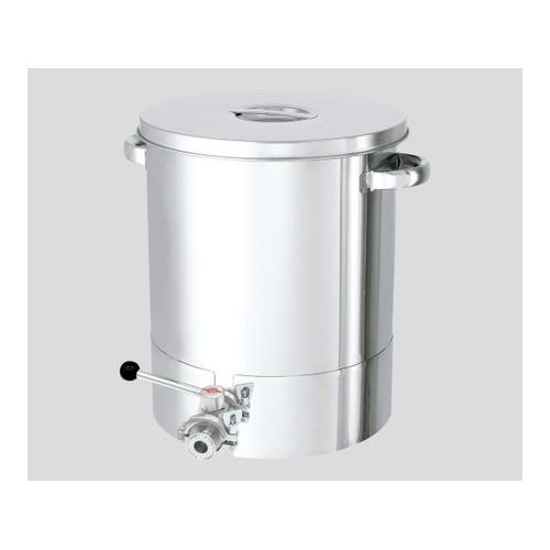 アズワン 底部勾配型ステンレス容器 バルブ付 20L 1個 [2-111-01]