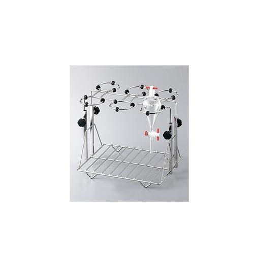アズワン 分液ロートホルダー ステンレス製 適合容器サイズ 50~100mL 1個 [3-6726-01]