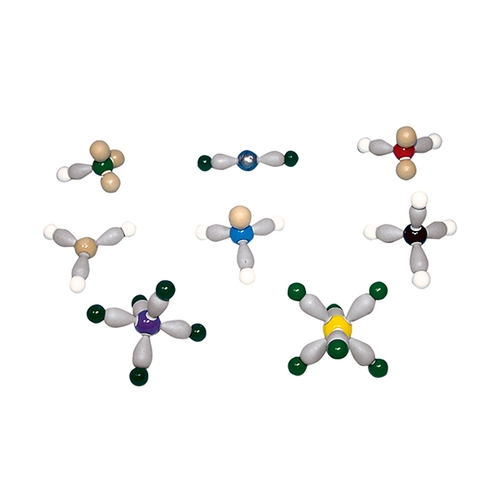 アズワン 電子軌道模型 分子形状と電子軌道の模型組立セット 8種 1セット [3-9227-01]