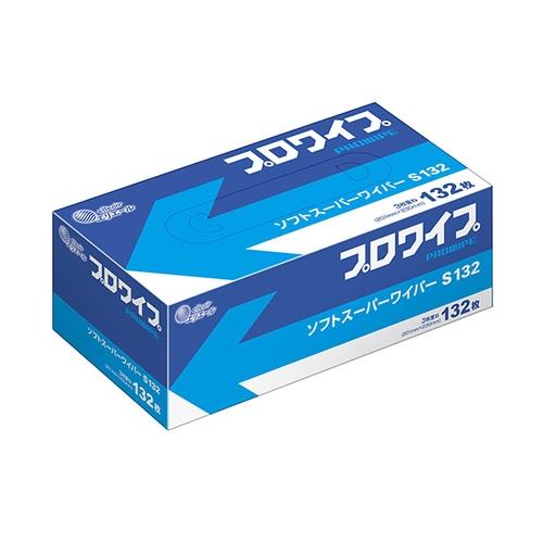 アズワン プロワイプ・ソフトワイパー 201×230mm S132スーパー 1箱(132枚×36袋入り) [2-1618-03]