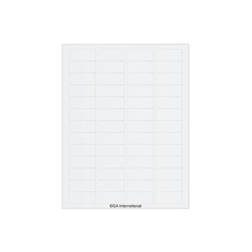 アズワン リムーバブルクライオラベル(レーザープリンタータイプ) 52ラベル×16シート入 1袋(52ラベル×16シート入り) [3-8731-05]
