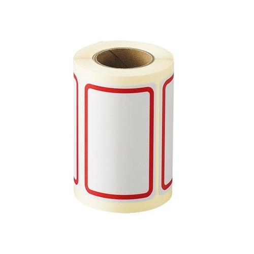 AS ONE 汎用器具 消耗品 テープ ラベル 紙製 シール RB-2 1巻 アズワン 店内限界値引き中&セルフラッピング無料 6-701-02 授与 ボーダーラベル 125枚入 40×60mm 赤 125枚入り