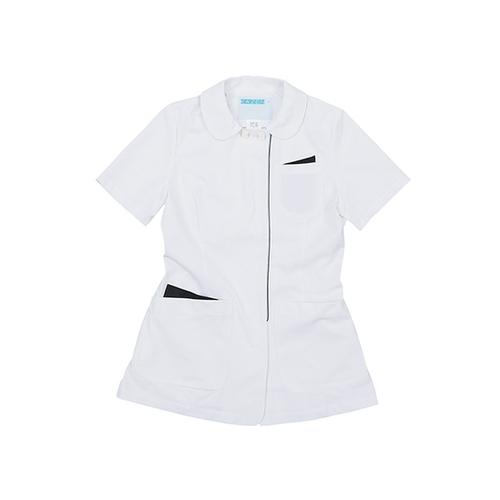 アズワン レディスジャケット ホワイト×ネイビー 3L 072-28 1枚 [7-4658-05]