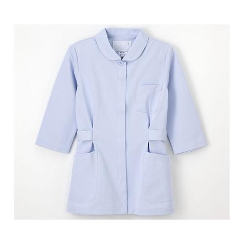 アズワン 伸縮性に優れたナースウェア (ジャケット/7分袖) ブルー/L HO-1911 1枚 [8-7781-03]