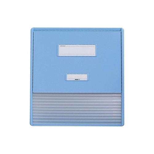 アズワン カードインデックス A3/A4(縦2面)10名用 ブルー HC113Cブルー 1冊 [0-7508-11]