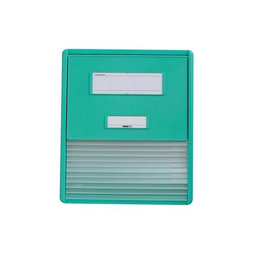 アズワン カードインデックス A4(横1面)10名用 グリーン HC111Cグリーン 1冊 [0-7509-12]