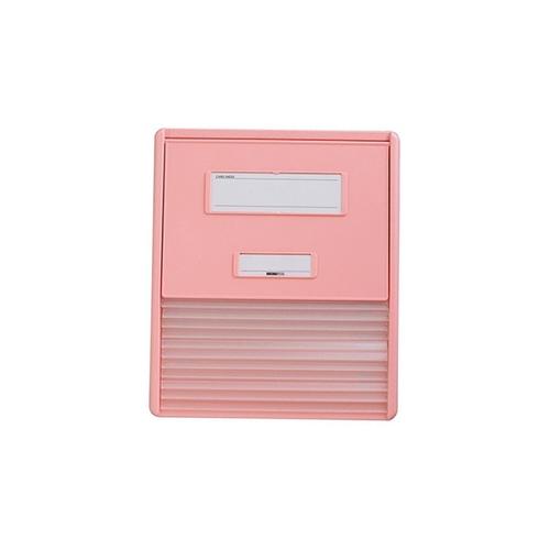 アズワン カードインデックス A4(横1面)10名用 ピンク HC111Cピンク 1冊 [0-7509-13]