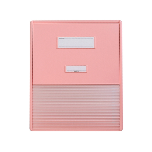 アズワン カードインデックス A3/A4(縦2面)15名用 ピンク HC114Cピンク 1冊 [0-7511-13]