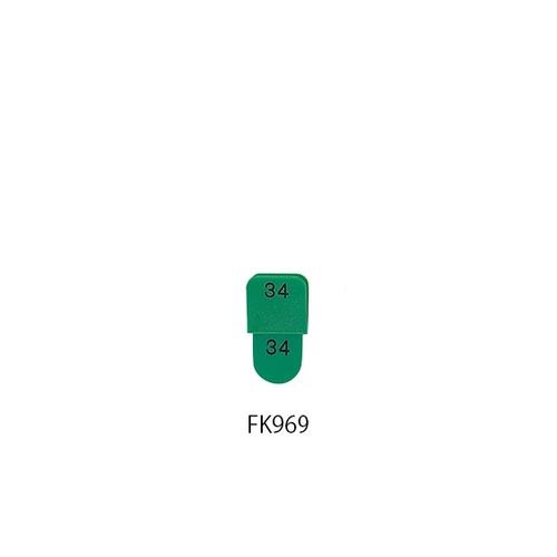アズワン 親子札 連番1~50 緑 KF969-2 1組(50枚入り) [7-4168-07]