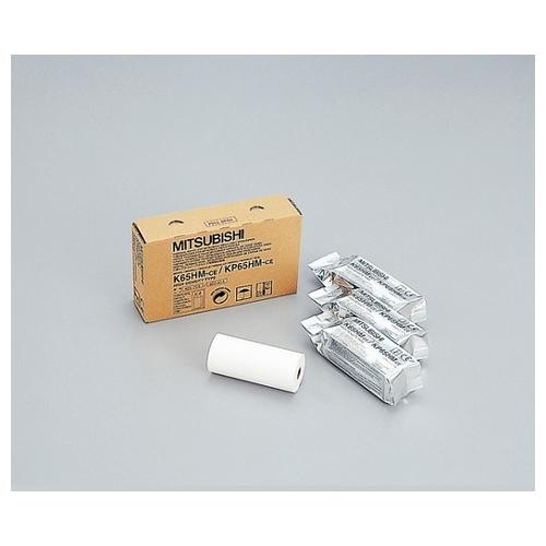 アズワン プリンター用紙(三菱電機プリンター用) 感熱ロール紙 110mm×20m K65HM-CE 1箱 [8-1206-07]