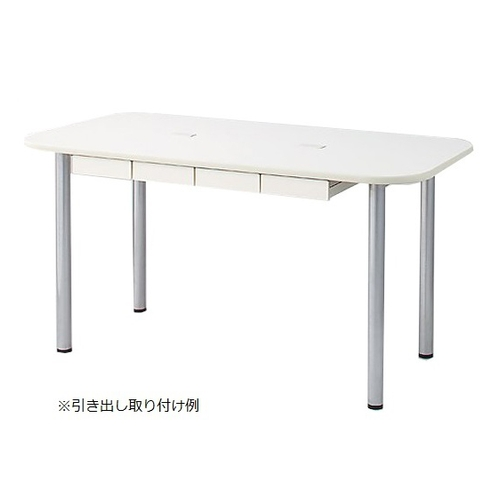 アズワン ナーステーブル(天板配線穴有) 2200×1200×750mm 2212L-WC 1台 [8-2559-01]