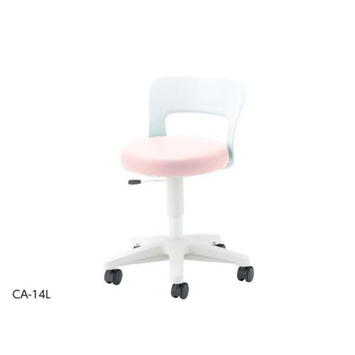 アズワン メディカルソフトスツール ロータイプ・背付き ピンク CA-14L 1個 [8-6718-04]