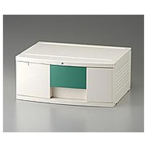 アズワン トレイBOX(鍵付) A3用グリーン 470×360×205mm 302H 1個 [0-5347-01]