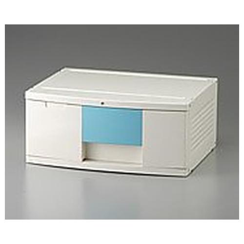 アズワン トレイBOX(鍵付) A3用ブルー 470×360×205mm 302H 1個 [0-5347-02]