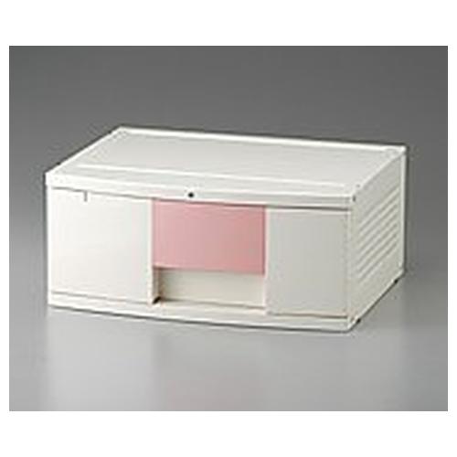 アズワン トレイBOX(鍵付) A3用ピンク 470×360×205mm 302H 1個 [0-5347-03]