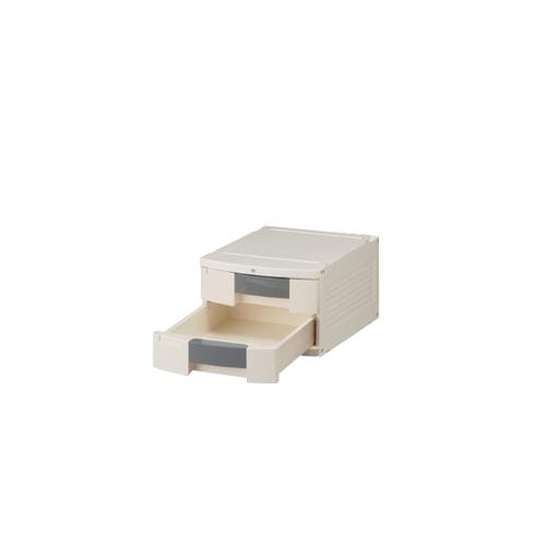 アズワン トレイBOX(鍵付) A4用グレー 290×360×205mm 404H 1個 [0-5347-11]