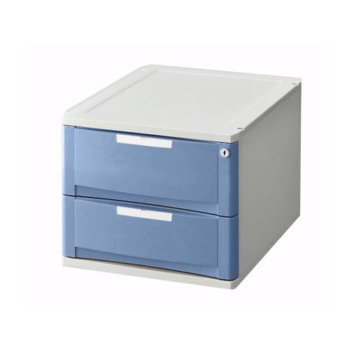 AS ONE ナビス 看護 驚きの価格が実現 介護用品 超特価 収納 院内事務用品収納器具類 1個 鍵付き 8-2314-14 アズワン ブルー トレーボックス 120H-2B