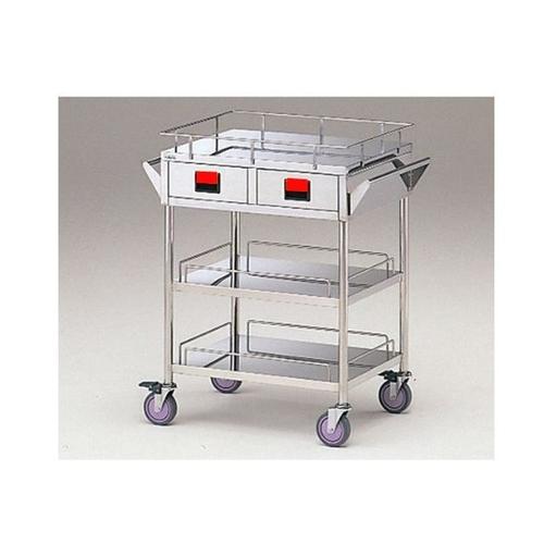 最先端 [0-3442-05]:セミプロDIY店ファースト 3段-赤 750×450×855mm K3W-R カラフルカート 1台 アズワン-DIY・工具