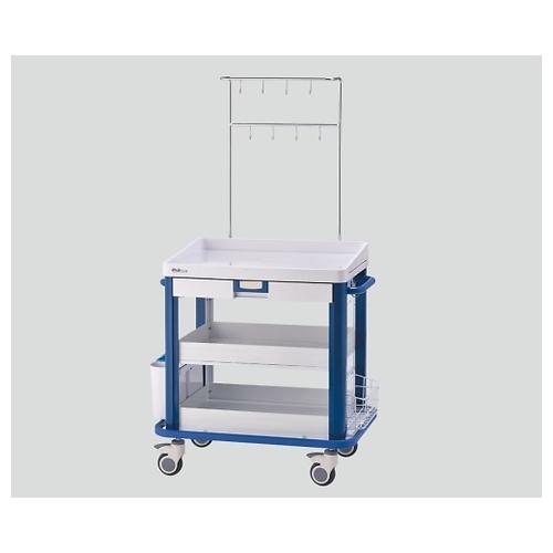 アズワン IVカート(点滴処置車) ブルー YC-32-S-00032 1個 [7-1252-02]