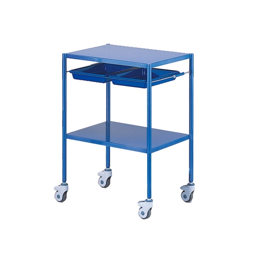 アズワン カラフル回診車 2段 ブルー 625×475×865mm NCC-2HBL 1台 [8-8637-02]