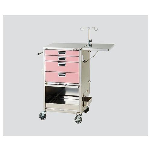 アズワン 救急カート HKK-SP(ピンク) 1台 [0-9966-12]