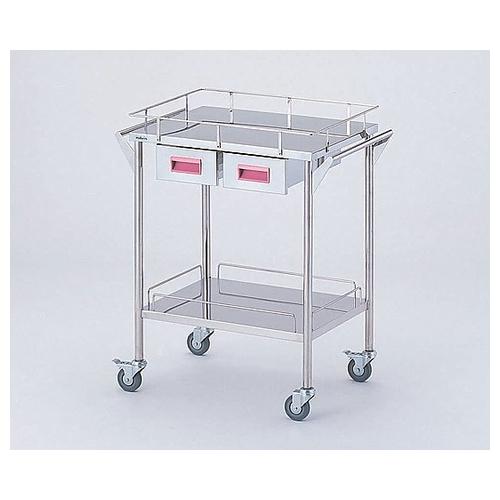アズワン ストレージステンレスカート 2段 ピンク(幅600mm/引き出し2個) 1台 [8-2529-01]