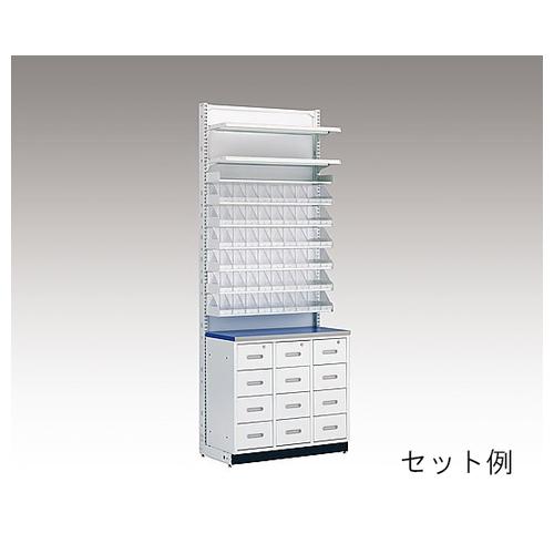 アズワン MDS調剤台[棚板セット] 6段錠剤棚セット(W600mm用) S79246WH 1セット [8-4066-03]