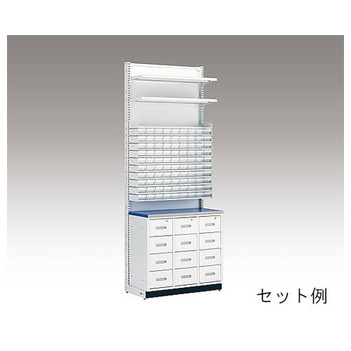 アズワン MDS調剤台[棚板セット] 10段錠剤棚セット(W600mm用) S79248WH 1セット [8-4066-05]