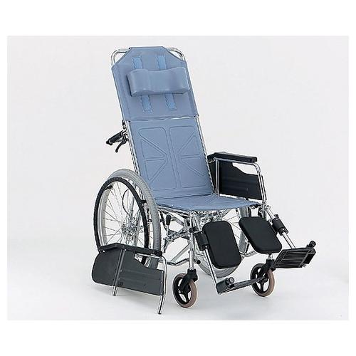 アズワン リクライニング車椅子 (自走式/スチール製/座幅400mm/エアータイヤ) CM-501 #36 1台 [0-7718-01]