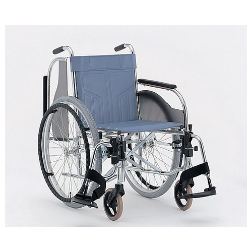 アズワン 肘跳上多機能車椅子 (自走式/ハイブリッドタイヤ/ワンタッチ開閉・着脱) CM-251 #36 1台 [0-7719-12]