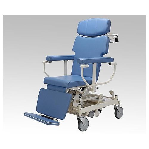 アズワン ストレッチャー車椅子 (介助式/座幅400mm/ブルー・サイドバー付ハイタイプ) TB-204 1台 [0-9127-12] [個人宅配送不可][送料別途お見積り]