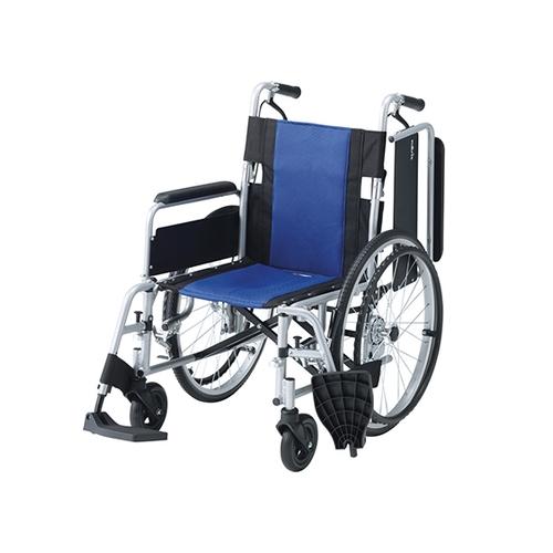 アズワン 車椅子 (多機能アルミタイプ) 介助ブレーキあり Fit-ALB-M 1台 [7-4330-02]