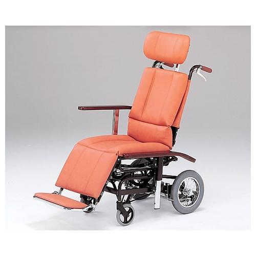 アズワン フルリクライニング車椅子 (介助式/スチール製/座幅460mm/32.2kg/チルト) NHR-7 1台 [8-3572-01]