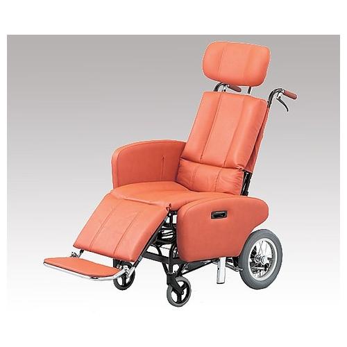 アズワン フルリクライニング車椅子 (介助式/スチール製/座幅460mm/35.2kg/チルト) 1台 [8-3572-02]