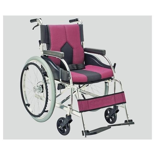 アズワン 車椅子(アルミ製・背折れタイプ) パープル KC-1PU 1個 [8-7035-01]