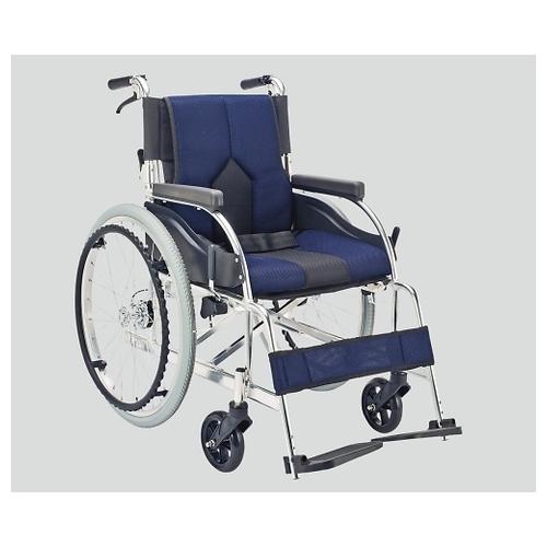 アズワン 車椅子(アルミ製・背折れタイプ) ネイビー KC-1DB 1個 [8-7035-02]