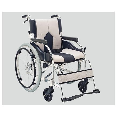 アズワン 車椅子(アルミ製・背折れタイプ) ライトグレー KC-1LG 1個 [8-7035-03]